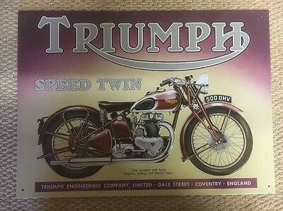 Triumph Motorcycles Advertising Enamelled Finish Metal Sign.
