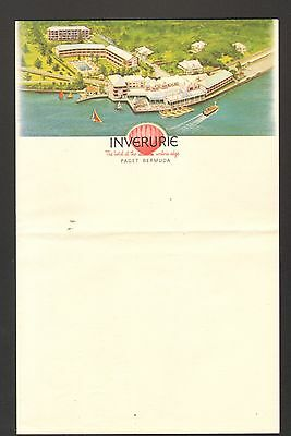 Unused Letterhead Inverurie Hotel Paget Bermuda The hotel at the Waters Edge