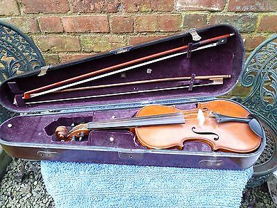 Antique Violin With case and two bows German make.