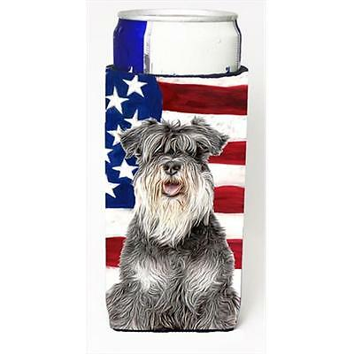 USA American Flag with Schnauzer Michelob Ultra bottle sleeves for slim cans