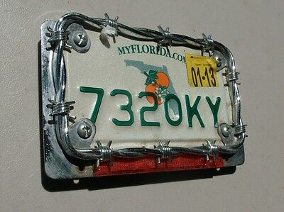 Barbed Wire Motorcycle License plate frame #