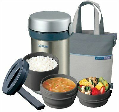 ZOJIRUSHI heat insulation lunch box stainless steel lunch jar you vent [bo