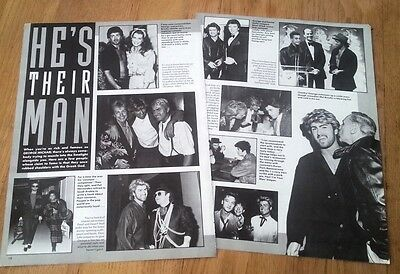 GEORGE MICHAEL '& celebrity friends'  magazine PHOTO/Poster/clipping 11x8 inches