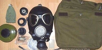 Genuine Russian Gas Mask PMK-2 with Canvas Bag Full Set New