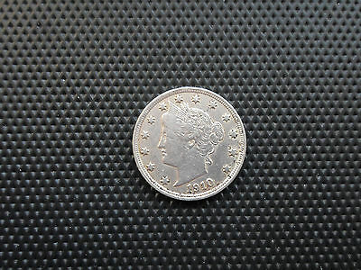 United States 5 Cent 1910 Silver - Liberty Head US Nickel Coin Good Condition