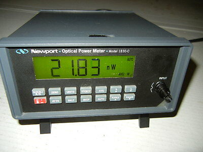 Newport 1830-C Optical Power Meter With Newport 818-F-SL Detector With ST Connec