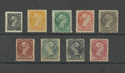CANADA 1870 EARLY MINT AND LMM VICTORIA RARE STAMPS Great Colour V HIGH CAT