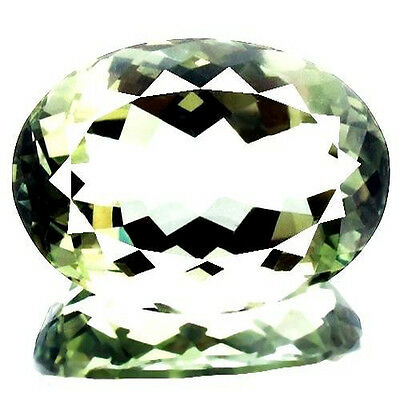 Natural Green Amethyst Certified 24 ct Flawless Untreated Oval Loose Gemstone