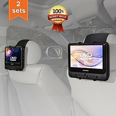 TFY Car Headrest Mount Holder For 7 Inch - 10 Inch Swivel Screen Portable DVD