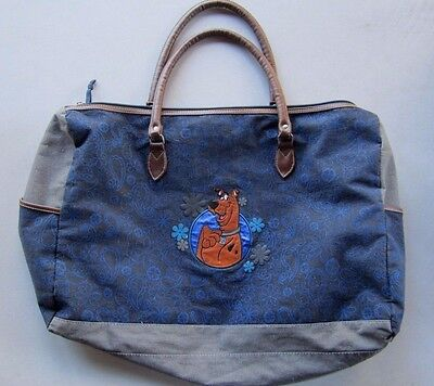"Vtg 2002 Scooby Doo Embroidered 24"" Duffle Bag Carry On Luggage RARE Beach"