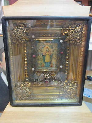 JOY OF ALL WHO SORROW - ANTIQUE OLD ICON (LITHOGRAPHY) KIOT, 420mm x 360mm