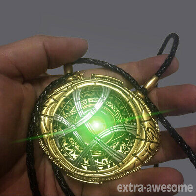 Dr Doctor Strange Eye of Agamotto Necklace Amulet Antique Pendant Cosplay Prop