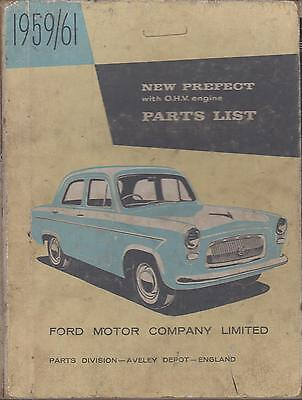 Ford Prefect 107E Saloon ( 1959 - 1961 ) Original Factory Parts Catalogue