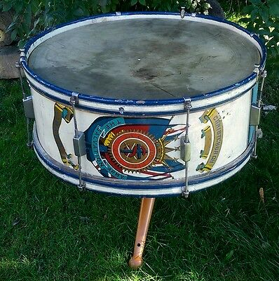 An Unusual Vintage Bass Drum Coffee Table - Christchurch Salvation Army c.1930