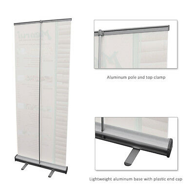 "33"" x 79"" Banner Stand Retractable With Carry Case"