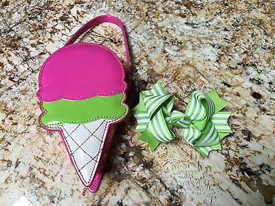 Gymboree Icream Sweetie Purse & hair bow party baby girl toddler clothing