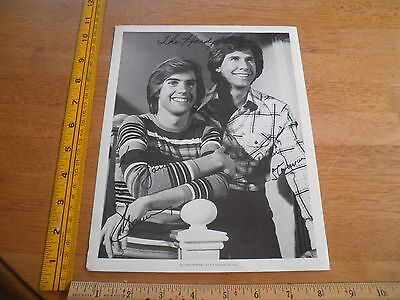1970's The Hardy Boys promo 8x10 Photo printed signatures Shaun Cassidy