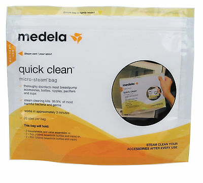 Baby Nursing Bottle Feeding Sterilisers Cleaning Quick Clean Micro Steam Bags