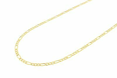 "10k Yellow Gold Men's Solid Figaro Chain Necklace 3.5mm 16"" 18"" 20"" 22"" 24"""