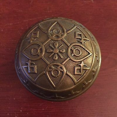 Antique Entry Norwalk Collectible  VICTORIAN Eastlake Cast Bronze  Door Knob