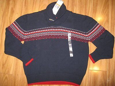 NWT Boy's Tommy Hilfiger Shawl-Collar Sweater - Navy - Sizes Small & Large