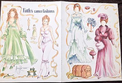 Faith's Cameo Fashions Mag. Paper Doll By Mary Reo Dated 2000