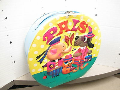 IDEAL PALS 1960s vinyl lunch box doll carrying case psychedelic dog pig bird mod