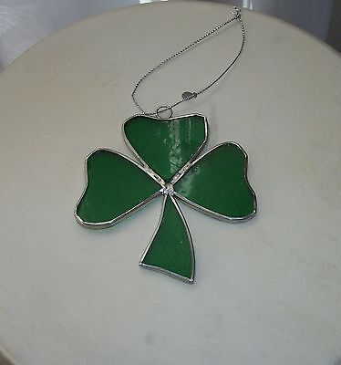 Small Stained Glass Shamrock Perfect for the Tree