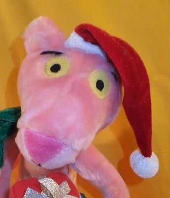 """Pink Panther Santa Panther Gives Christmas Gifts 16"""" French Jacques Clouseau"""