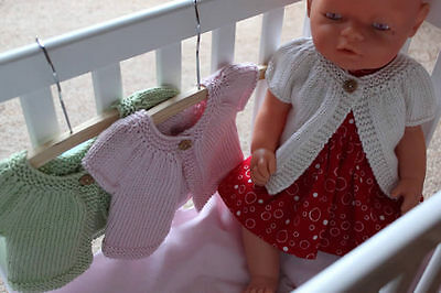 Cardigan hand made dolls clothes for Baby Born Cabbage Patch