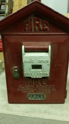 Vintage Harrington Signal METAL FIRE ALARM MASTER BOX