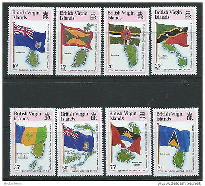 British Virgin Islands 1987 Organisation of Eastern Caribbean States MNH flags