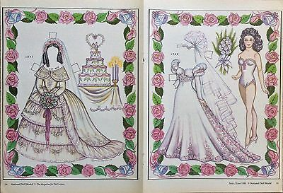 June Bride Yesterday & Today Magazine Paper Doll,1988, By Loraine Morris