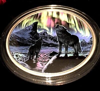 Glow-in-the-Dark Coin – Northern Lights in the Moonlight – Mintage: 4,000 (2016)