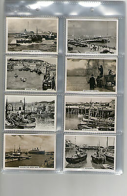 cigarette cards fishing boats industry 1939 full set
