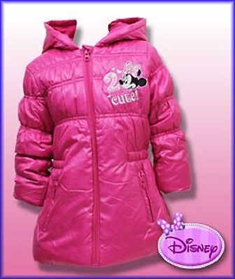 Official Disney Minnie Mouse Girls, Winter Coat, Sizes 3, 4, 6, 8, Years. New.