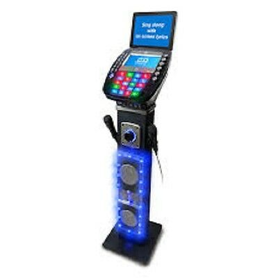 Easy Karaoke Bluetooth Pedestal Karaoke System with Light Effects