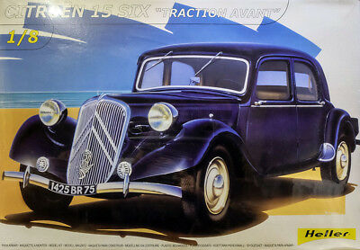 1934 Citroën 15 CV Traction Avant Citroen 1:8 Model Kit Bausatz Heller 80799