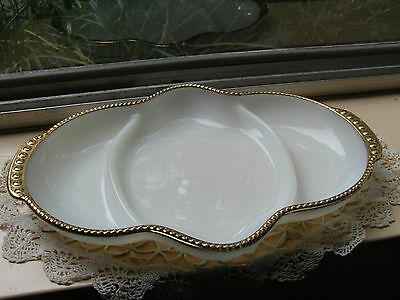 1950's Milk Glass Anchor Hocking Fire King Serving Plate 'Mint'