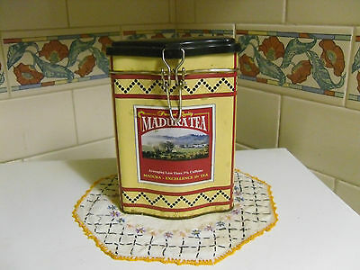 Vintage Madura Tea Canister With Clip *collectable & Rare*