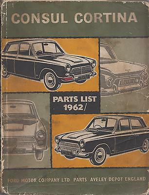 Ford Cortina Mk1 Saloon & Estate Original 1962 Factory Parts Catalogue