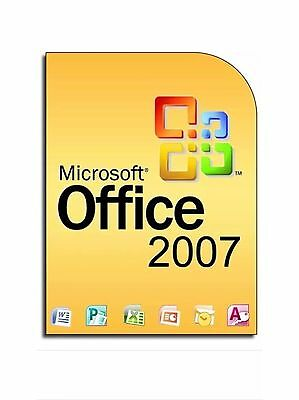 Office 2007 Pro FULL VERSION  3 users licence & DVD 9 programs Excel, Word etc.