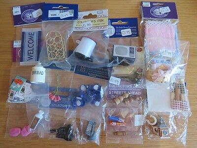 Brand New 1/12th Scale Modern Dolls House Accessories Job Lot