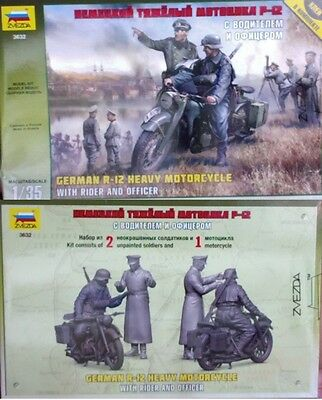 o Zvezda 3632 - German R-12 Motorcycle with rider and officer  (Scala 1/35)