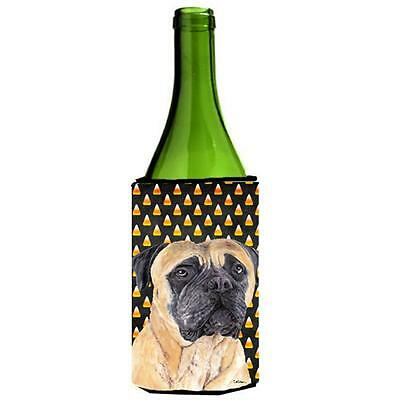 Mastiff Candy Corn Halloween Portrait Wine Bottle Hugger 24 oz.