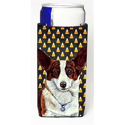 Corgi Candy Corn Halloween Portrait Michelob Ultra bottle sleeves For Slim Ca...