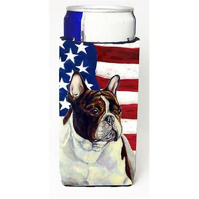 USA American Flag with French Bulldog Michelob Ultra bottle sleeves for slim ...