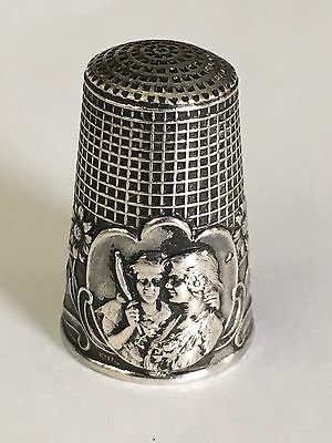 Silber Fingerhut Silver Thimble aus Frankreich from France