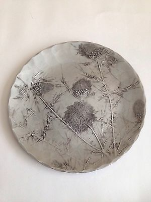 Beautiful Hand Forged Aluminium Plate with Cornflowers - Wendell August