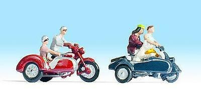 Figurines Noch TT 45905: Motorcycle riders with sidecar